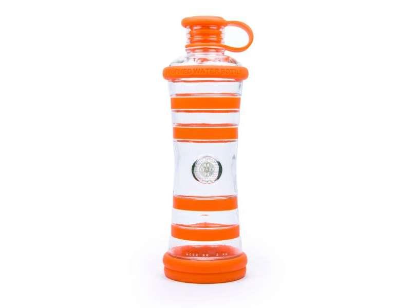 informare l'acqua bottiglia arancione