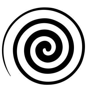 simbolo della spirale con rotazione a sinistra