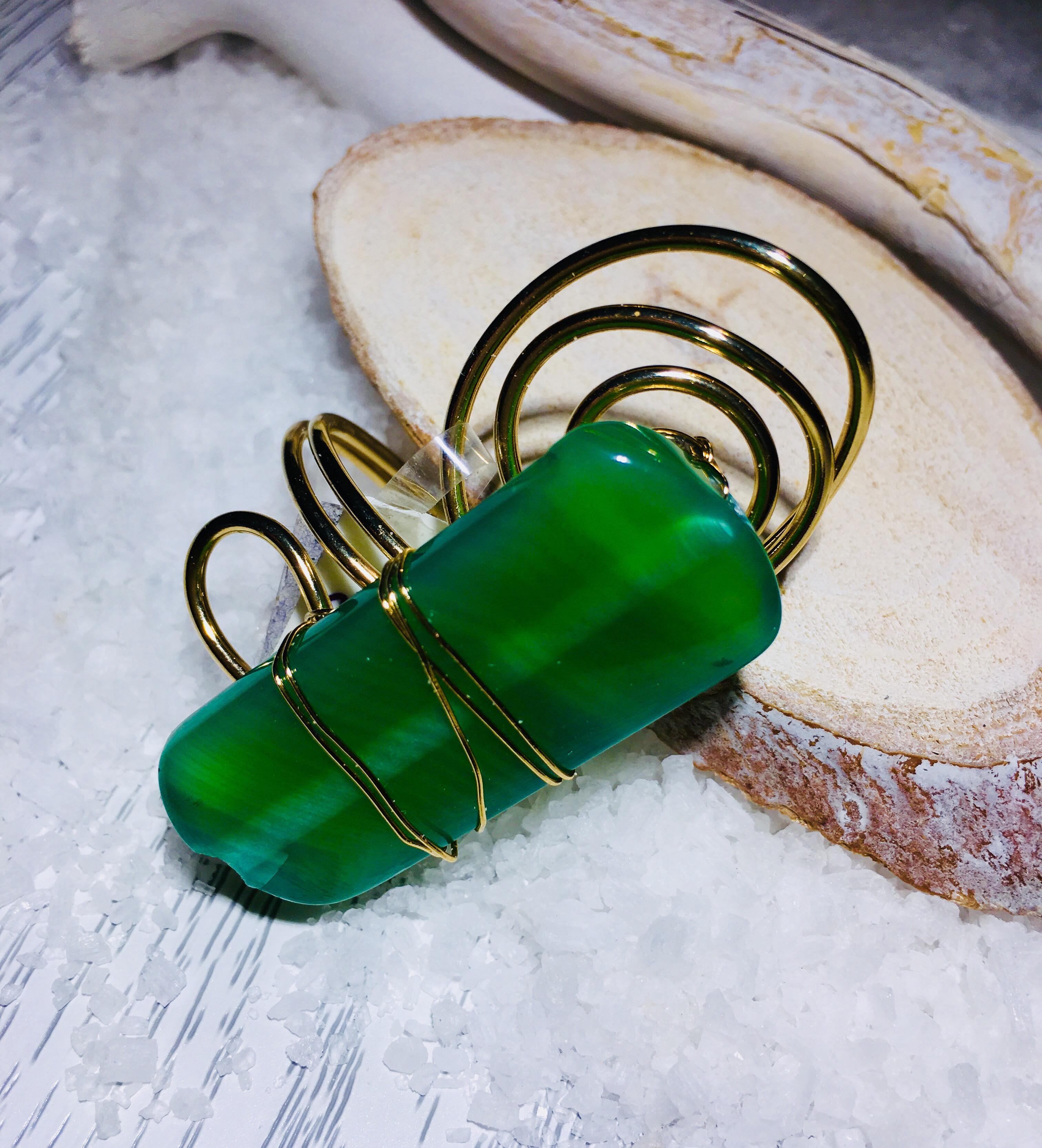 Anello agata verde